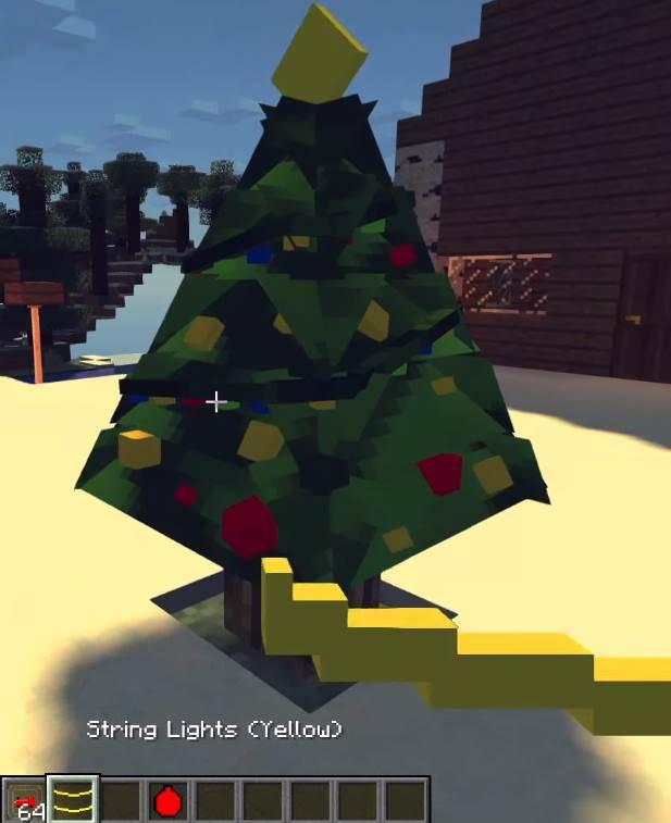 Новый год в Майнкрафт - Мод Decoratable Christmas Trees 1.12.2 7444a42de7c