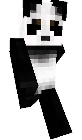 скин панды в кепке для майнкрафт #9